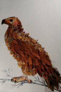 Птица из природного материала своими руками 80